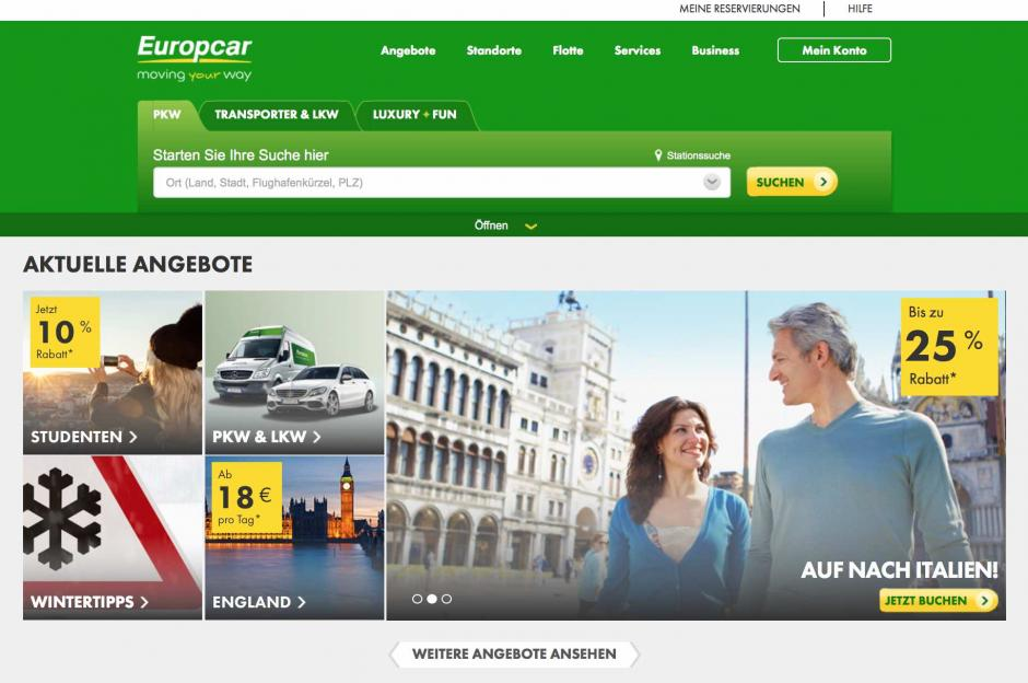 europcar autovermietung carsharing. Black Bedroom Furniture Sets. Home Design Ideas